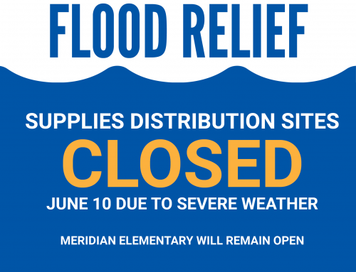 Distribution Sites Closed 6/10/20 Due to Severe Weather Outlook