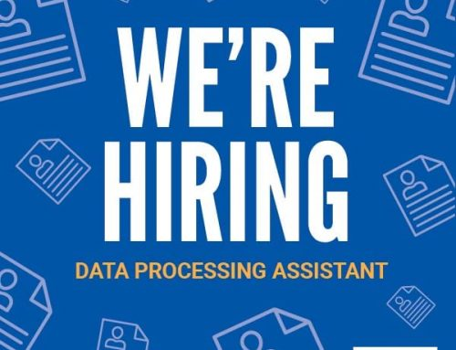 We're Hiring! Data Processing Assistant